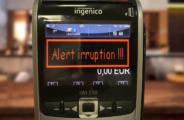 TPE Ingenico IWL250 avec Alert Irruption