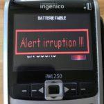 "Message d'erreur ""Alert Irruption"" sur tpe ingenico"