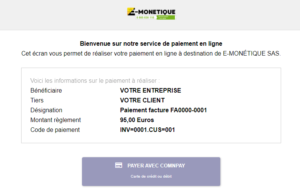 page de paiement comnpay module dolibarr